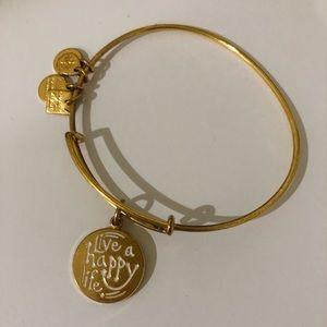 "Alex and Ani ""live a happy life"" bracelet"
